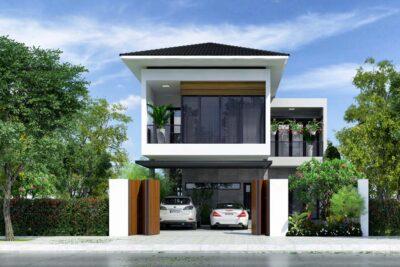 Mê Mẫu Với Mẫu Biệt Thự Vườn Hiện Đại 2 Tầng Đẹp Tại Bình Phước – BT02