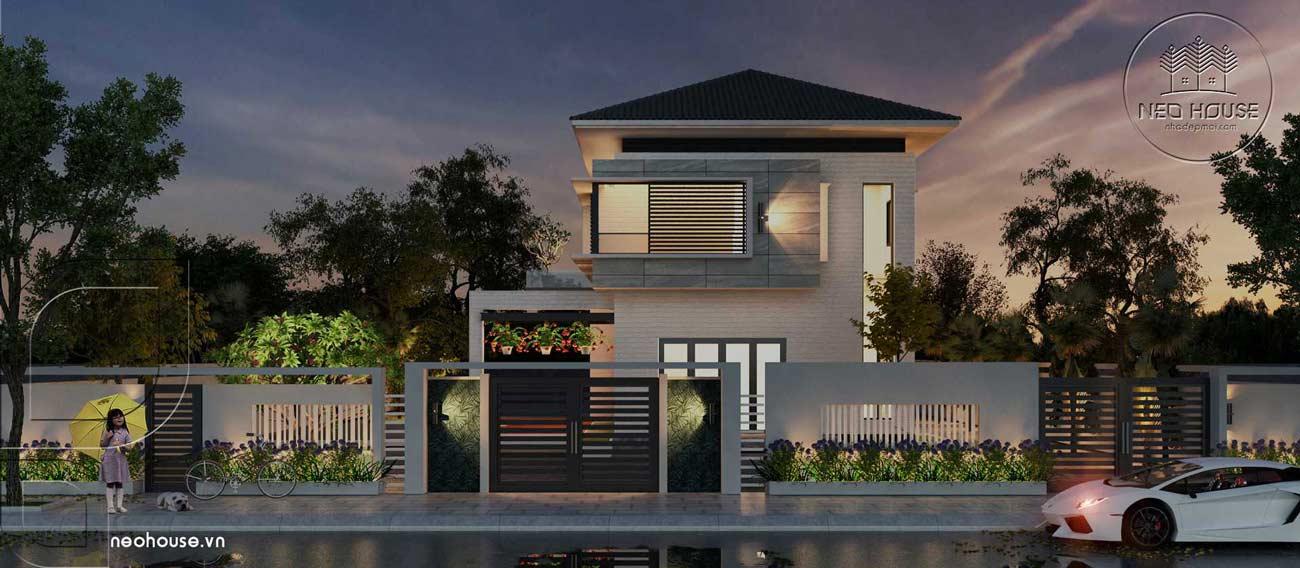 Thiết kế biệt thự vườn mini 2 tầng đẹp