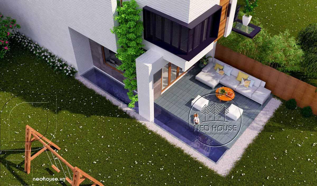 Thiết kế nhà phố 5x20m 2 tầng hiện đại. Ảnh 4