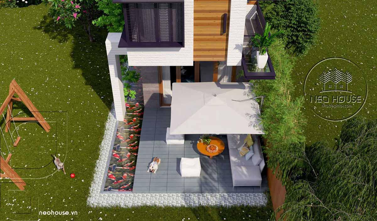 Thiết kế nhà phố 5x20m 2 tầng hiện đại. Ảnh 5