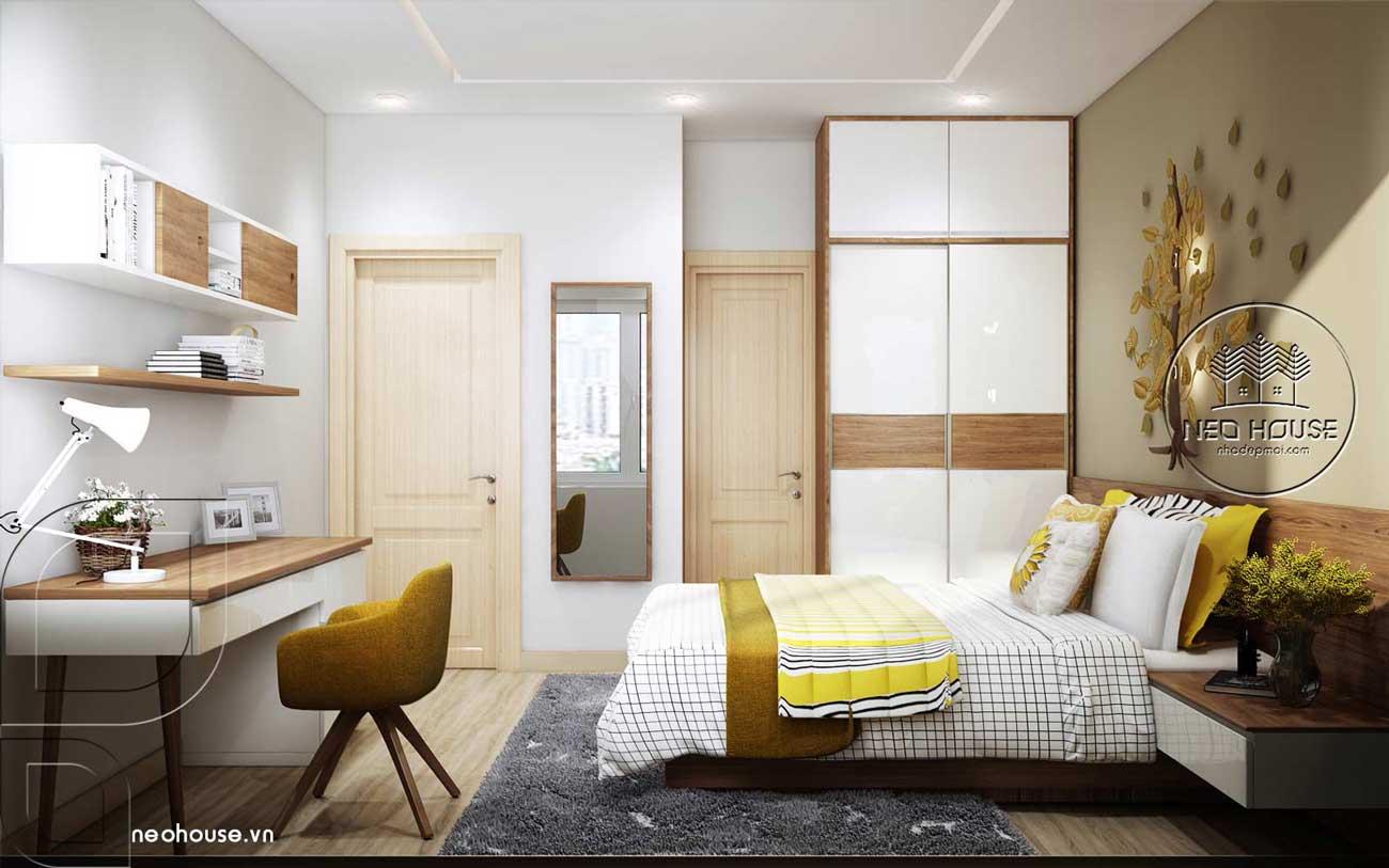 Thiết kế nội thất phòng ngủ Master nhà phố đẹp 3 tầng 1 tum. Ảnh 2