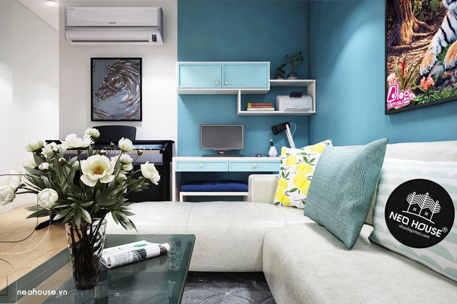 Thiết kế nội thất căn hộ chung cư 70m2. Ảnh bìa