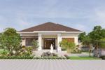 Thiết Kế Biệt Thự Vườn Mái Thái 1.2 Tỷ Diện Tích 250m2-BTV02