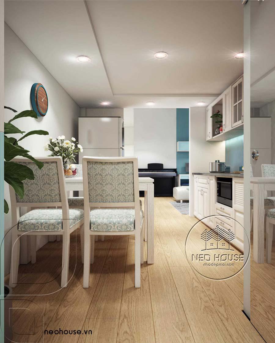 Thiết kế nội thất căn hộ chung cư 70m2. Ảnh 5