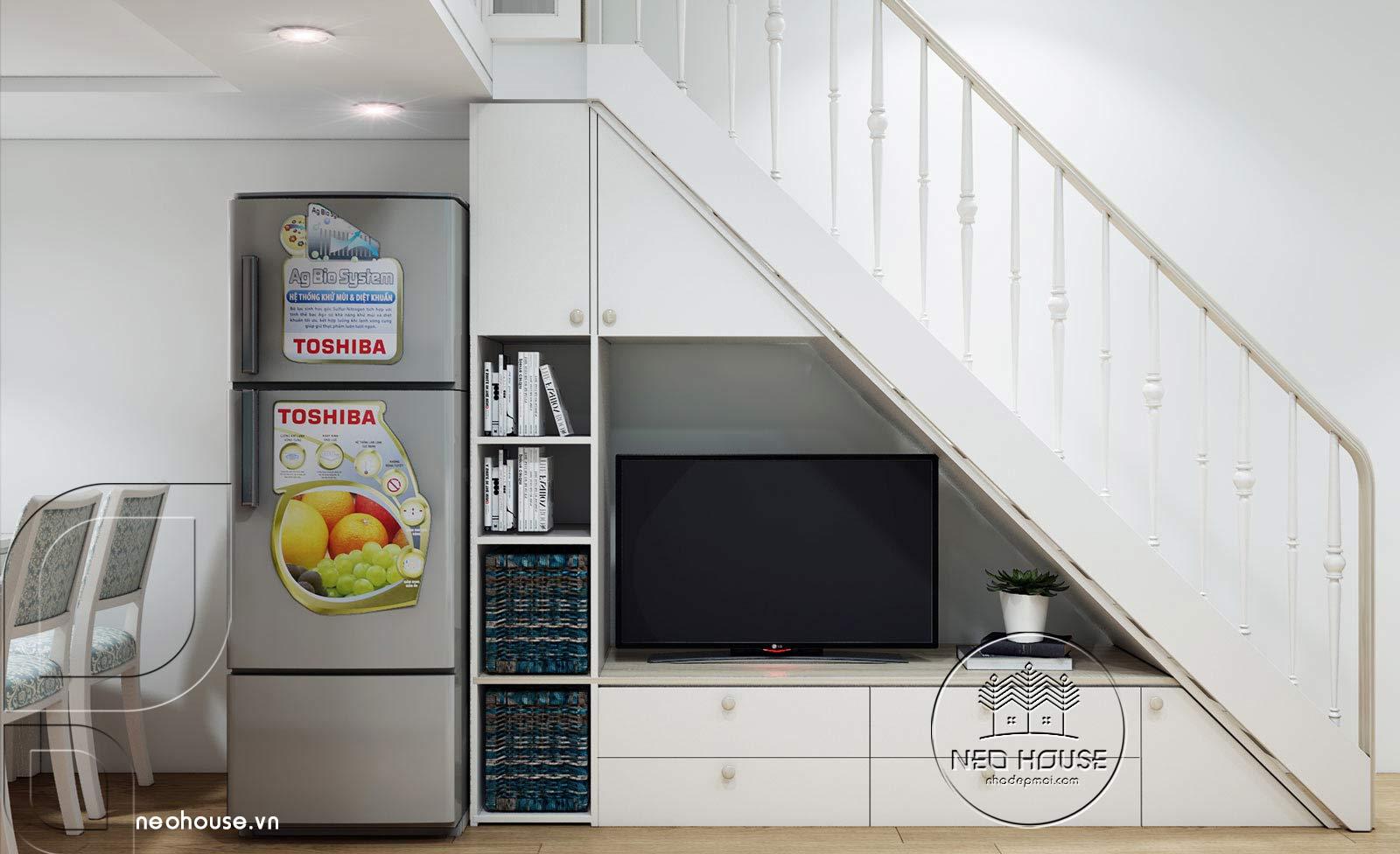 Thiết kế nội thất căn hộ chung cư 70m2. Ảnh 3