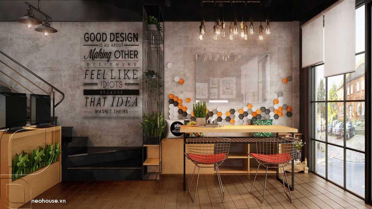 Thiết kế nội thất văn phòng hiện đại tầng trệt. Ảnh 1