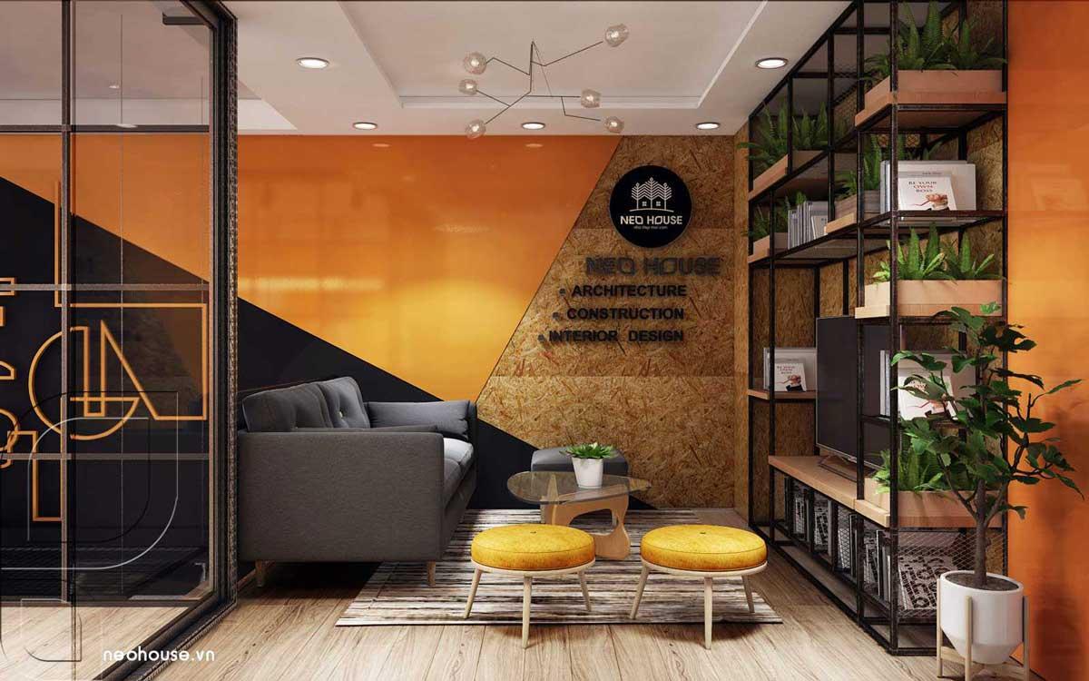 Thiết kế nội thất văn phòng hiện đại lầu 1. Ảnh 1