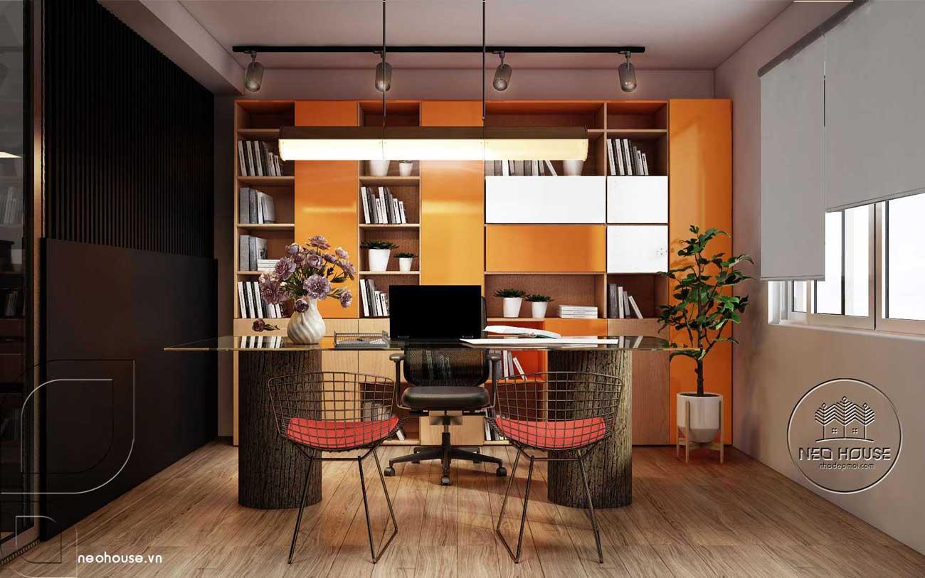 Thiết kế nội thất văn phòng hiện đại lầu 1. Ảnh 4