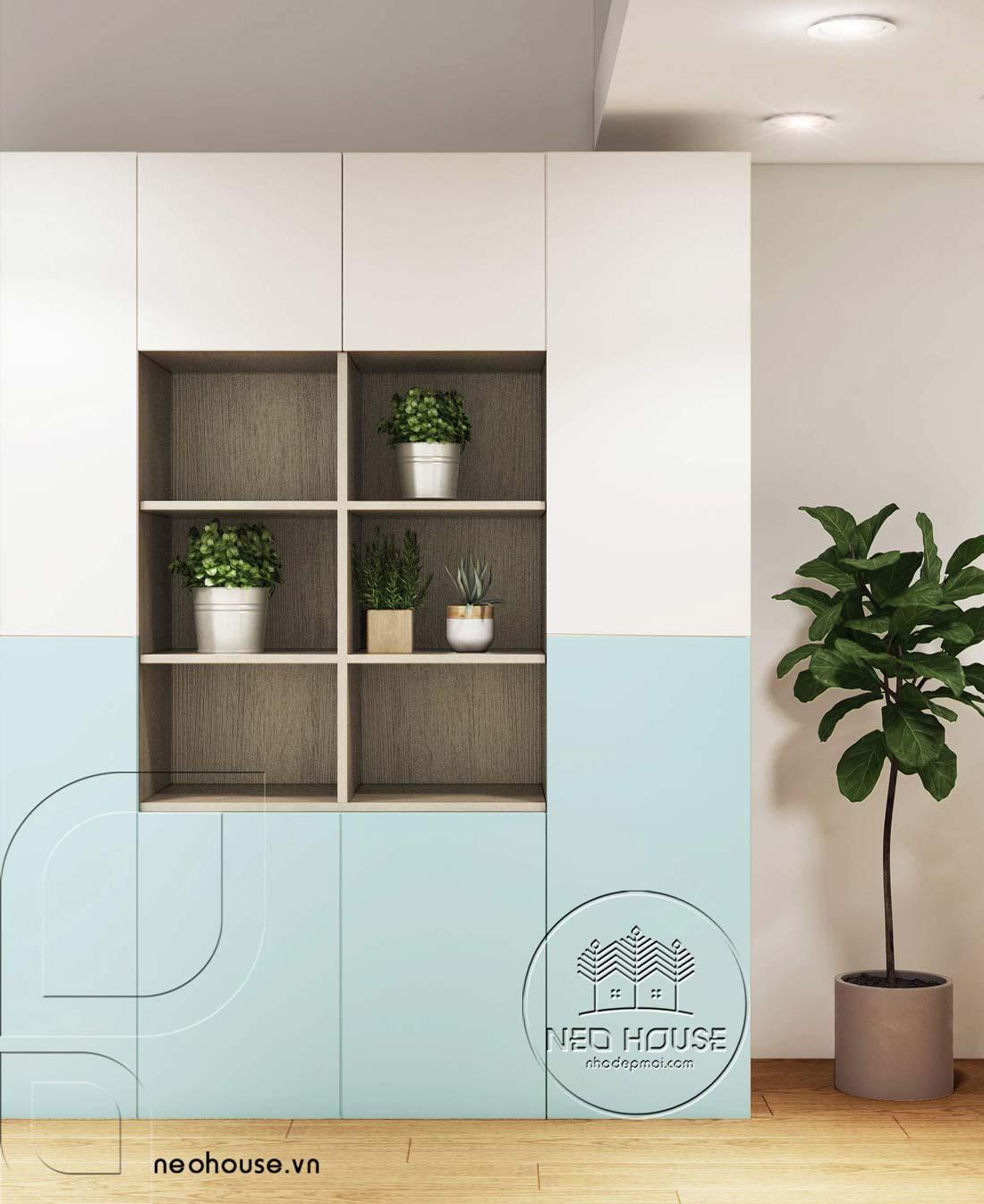 Thiết kế nội thất căn hộ chung cư 70m2. Ảnh 7