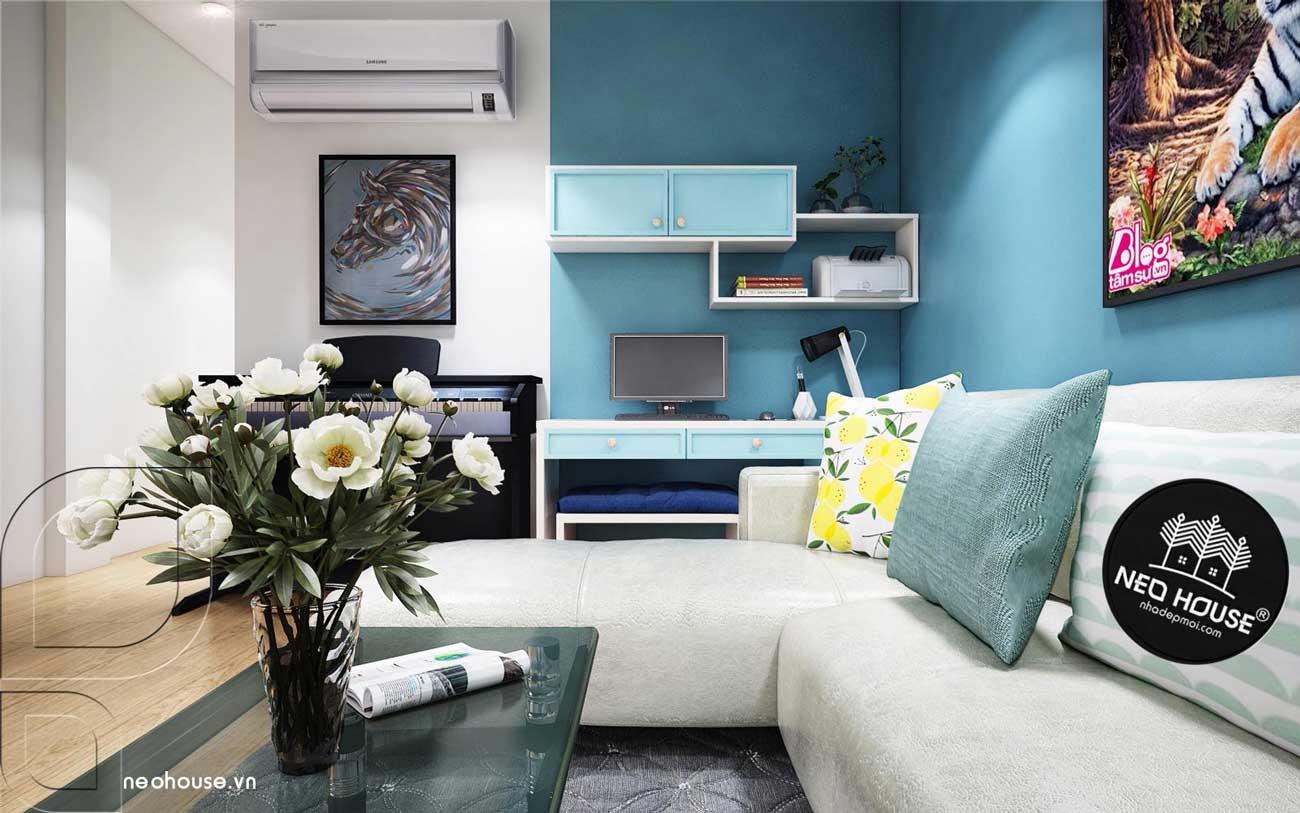 Phòng Khách Thiết kế nội thất chung cư 70m2