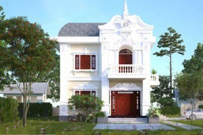 Thiết Kế Biệt Thự Cổ Điển 2 Tầng 500m2 Tại Tây Ninh – BTC01