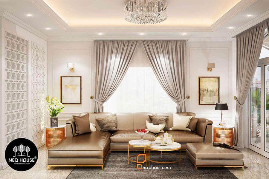Thiết kế nội thất biệt thự tân cổ điển 3 tầng. Ảnh đại diện