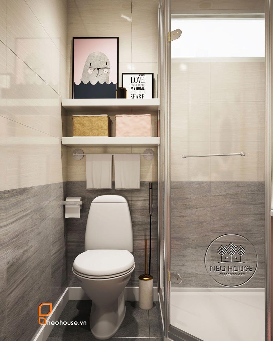 mẫu thiết kế nội thất phòng tắm Toilet 3