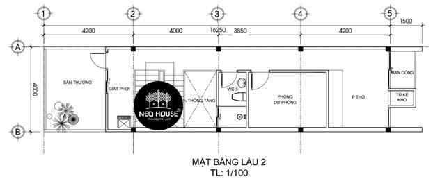 Bản Vẻ Thiết Kế Nhà Phố 3 Tầng