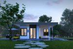 Thiết Kế Nhà Vườn Cấp 4 Kiểu Nhật 96m2 Giá 350 Tr-NC01