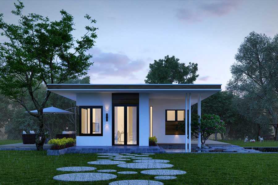 Thiết Kế Nhà Vườn Cấp 4 Kiểu Nhật 96m2 Giá 350 Tr – NC01