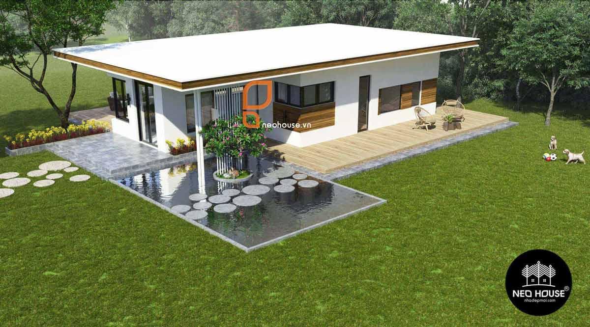Thiết kế nhà vườn cấp 4 kiểu nhật