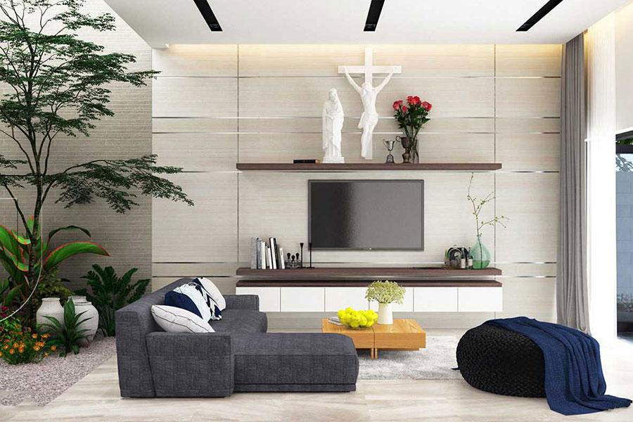 Thiết kế nội thất biệt thự đẹp 1 tầng hiện đại. Ảnh bìa