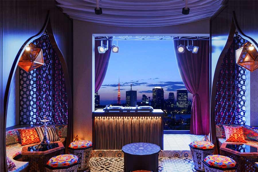 Nội thất quán cafe Ba Tư. Ảnh bìa