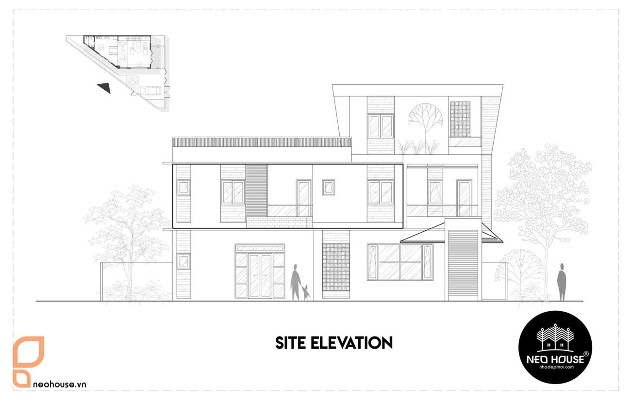 Bản vẽ Mẫu thiết kế biệt thự hiện đại 3