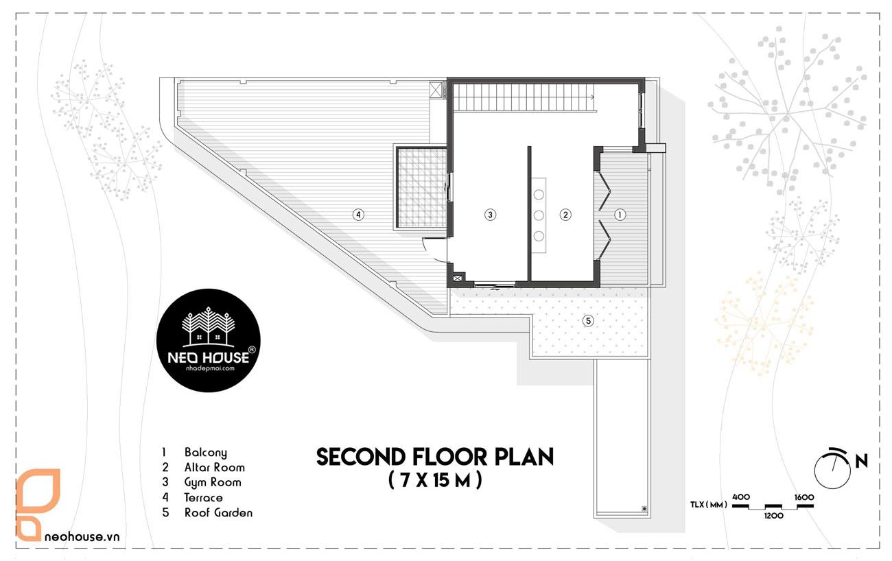 Bản vẻ thiết kế biệt thự 3 tầng lagi