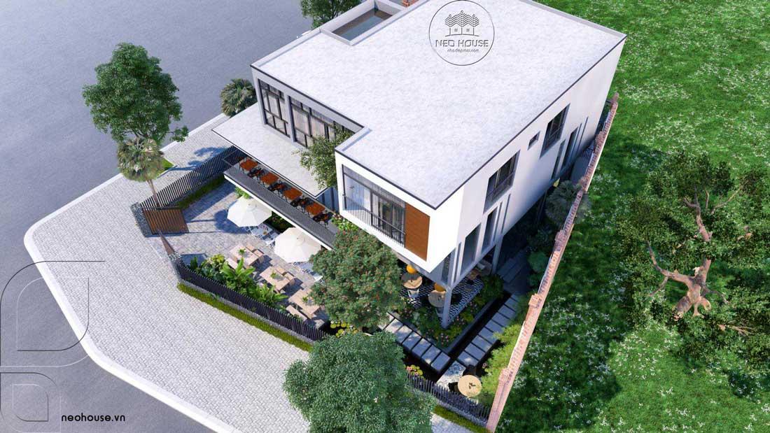 Thiết Kế Biệt Thự Kết Hợp Kinh Doanh Quán Cafe