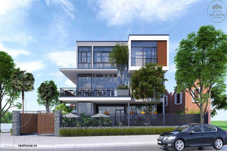 Mẫu Biệt Thự Phố Hiện Đại 3 Tầng Kết Hợp Kinh Doanh Quán Cafe