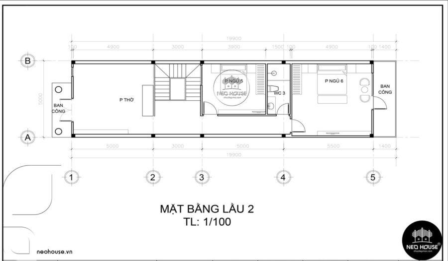 Thiết kế nhà ống 3 tầng bán cổ điển