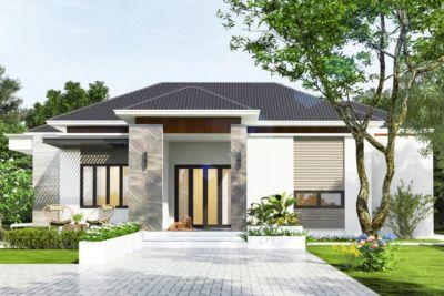 Mẫu Biệt Thự Vườn Mini Kinh Phí 700 Triệu-BTV05