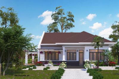Biệt Thự Vườn 1 Tầng Mái Thái Đẹp Có Hồ Bơi 1 Tỷ 2 – BTV03