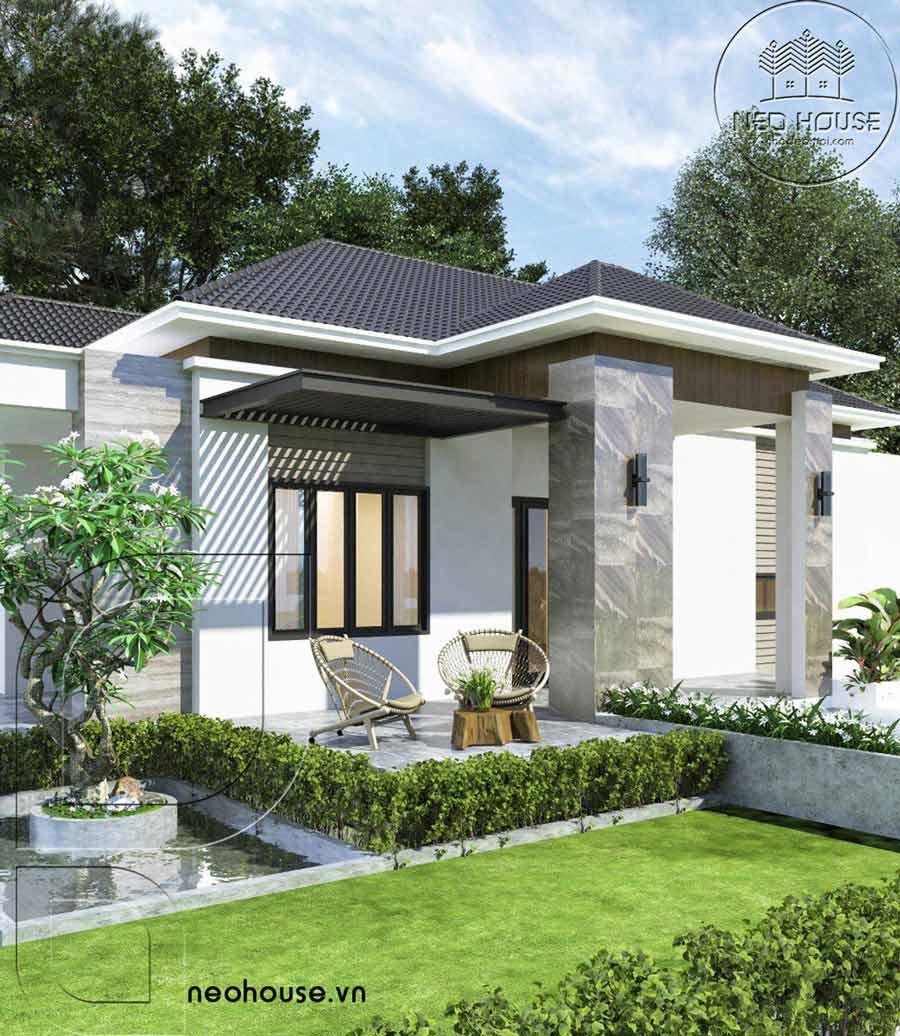 Thiết kế biệt thự vườn mái thái