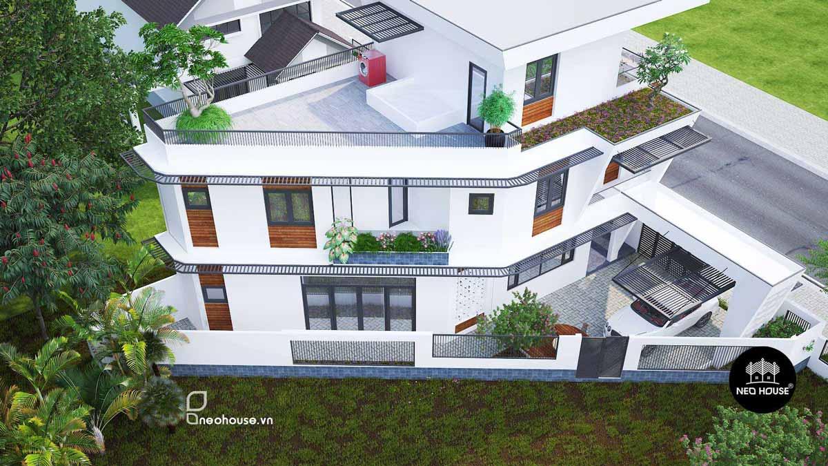 Mẫu thiết kế biệt thự hiện đại 2
