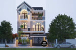 Biệt Thự Phố Mái Thái Kết Hợp Sân Vườn-BTV06