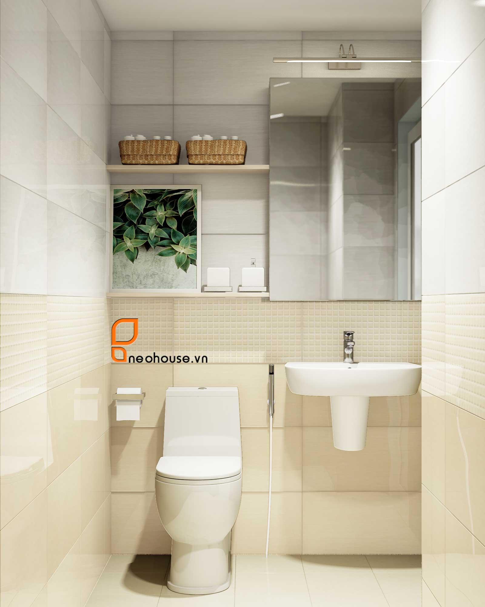 mẫu thiết kế nội thất phòng tắm Toilet 4