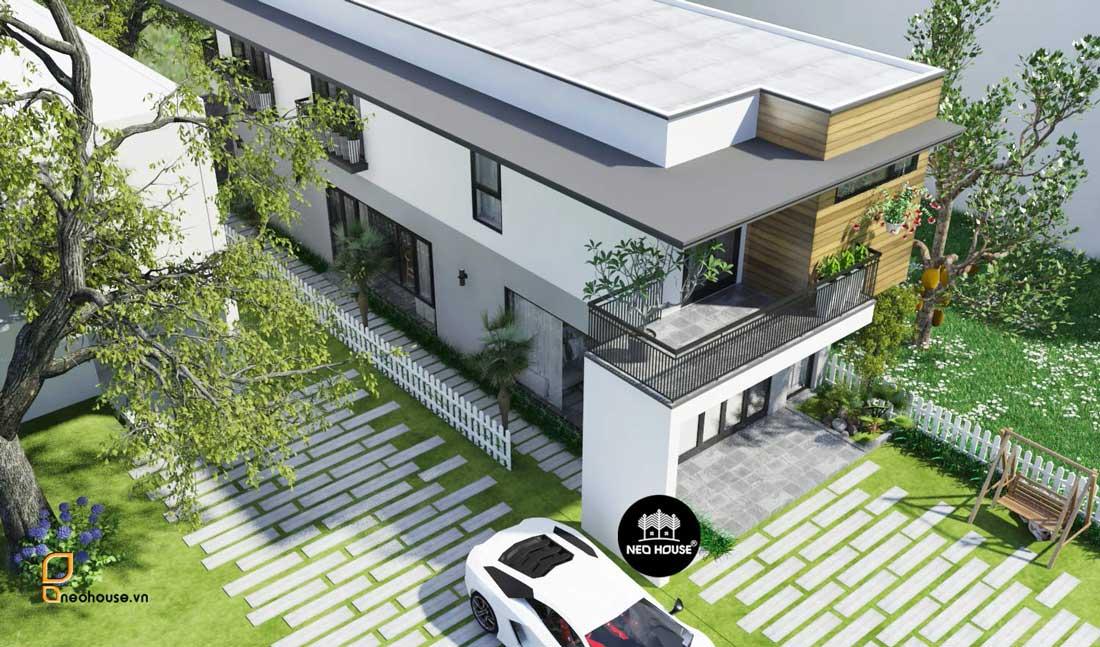 Thiết kế nhà hiện đại kinh phí 2 tỷ tại đồng nai