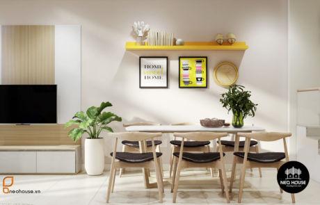 thiết kế nội thất căn hộ phòng khách Neohouse