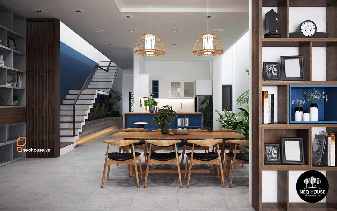 Mẫu thiết kế nội thất nhà phố hiện đại 2