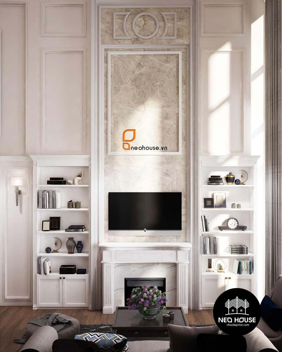 thiết kế nội thất phòng khách Duplex