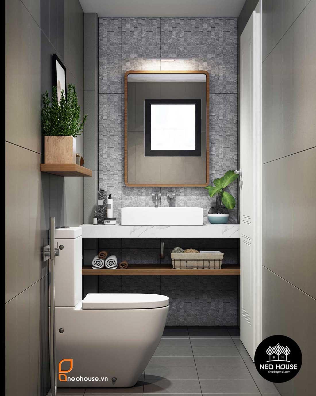 mẫu thiết kế nội thất phòng tắm Toilet 1