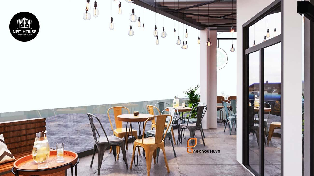 Thiết kế nội thất quán cafe sân thượng. Ảnh 8