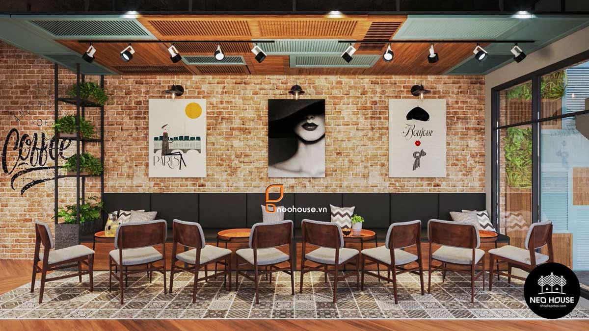 Không gian quán Nội Thất Quán Cafe Cao Cấp Tại HCM