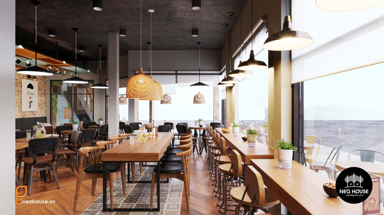 Thiết kế nội thất quán cafe sân thượng. Ảnh 4