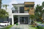 Thiết Kế Nhà Phố 2 Tầng Mặt Tiền 5m Tại Đồng Nai-NP12