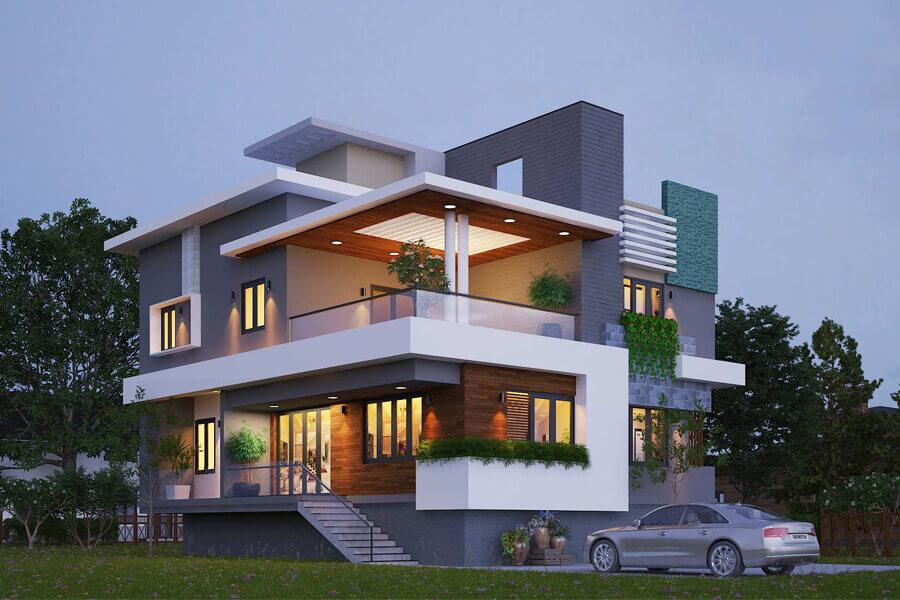 Thiết kế nhà biệt thự 2 tầng. Ảnh bìa