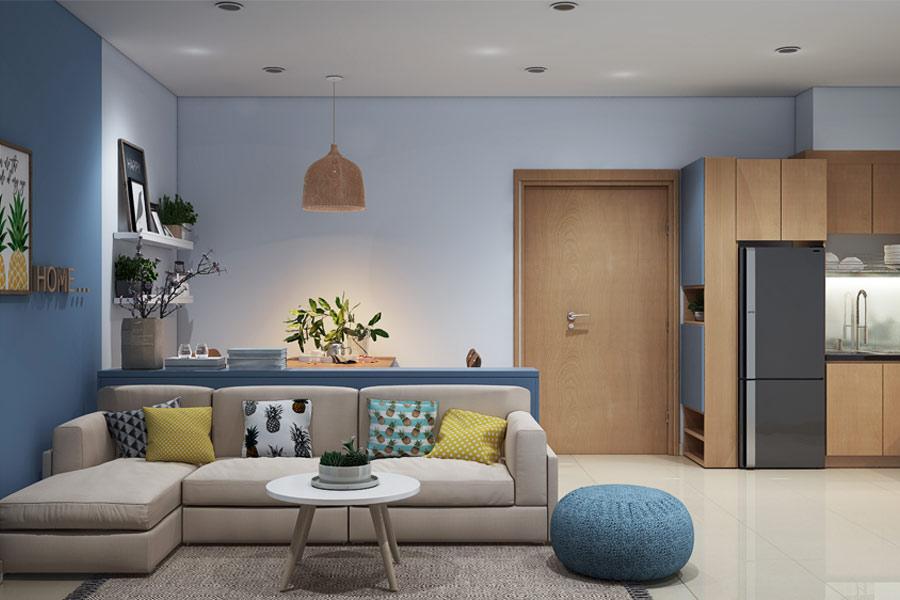 Thiết kế nội thất chung cư hiện đại. Ảnh bìa