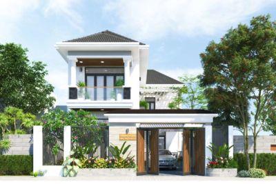 Biệt Thự Vườn 2 Tầng Mái Thái Chữ L Trọn Gói 1.5 Tỷ-BTV07