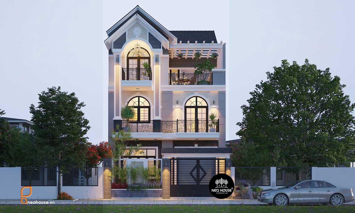 Thiết kế biệt thự phố mái thái neohouse
