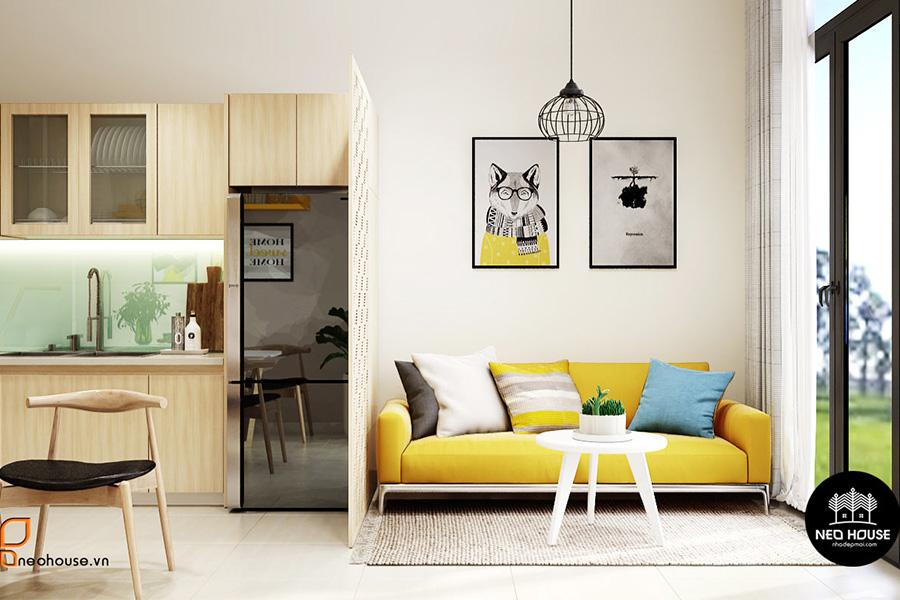 thiết kế nội thất căn hộ. Ảnh bìa