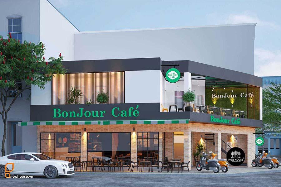 Thiết kế nội thất quán cafe sân thượng. Ảnh bìa