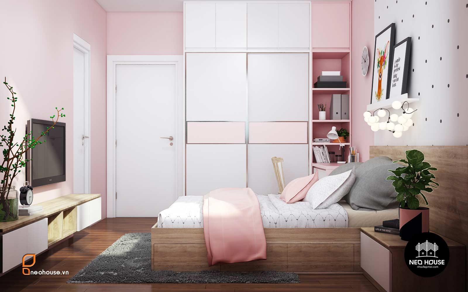 thiết kế nội thất phòng ngủ bé gái Neohouse